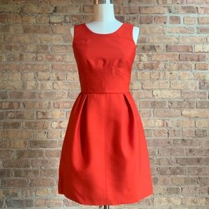 J.Crew Structured Dress in Bright Red